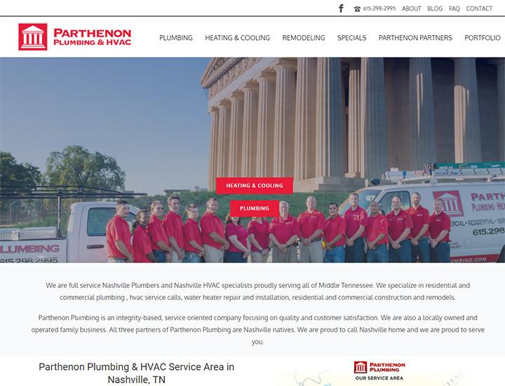 parthenon plumbing heating