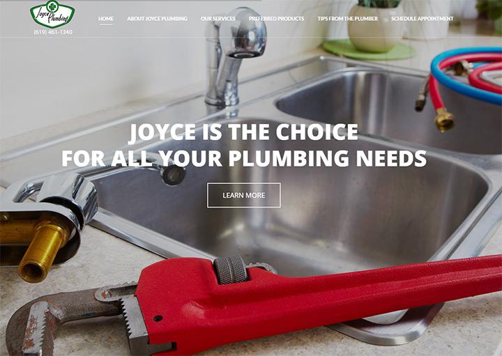 joyce plumbing website