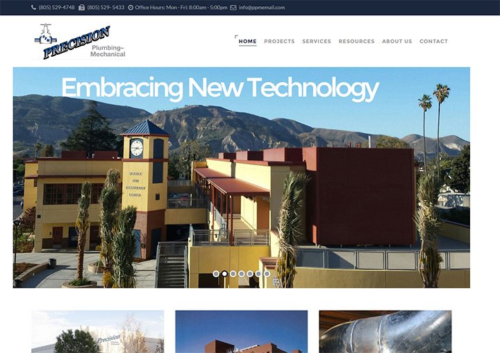 precision plumbing website