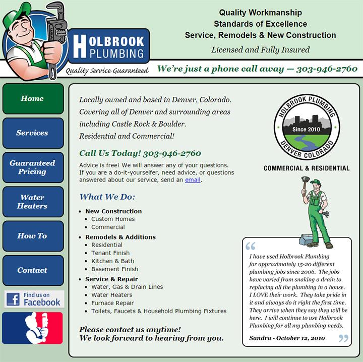 holbrook plumbing website