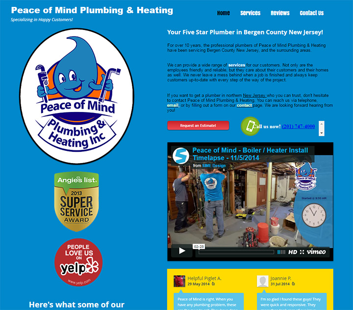 peace of mind plumbing