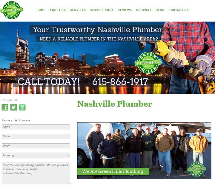 green hills plumbing website