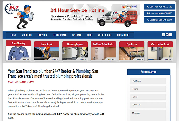 rooter 247 website