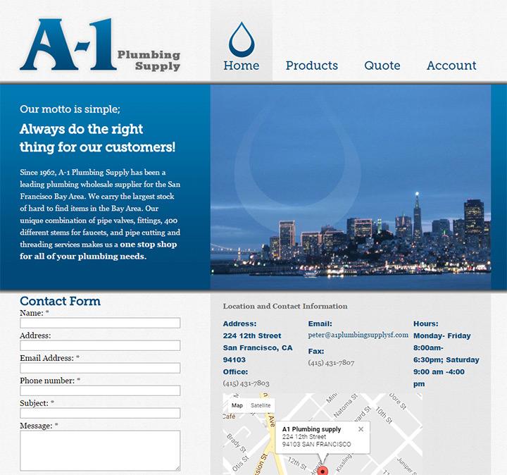 a1 plumbing supply website
