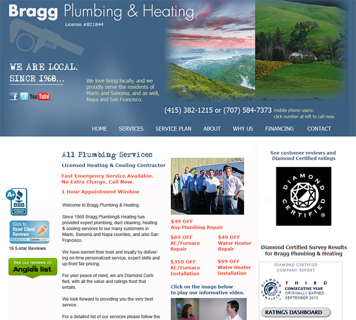 bragg plumbing heating