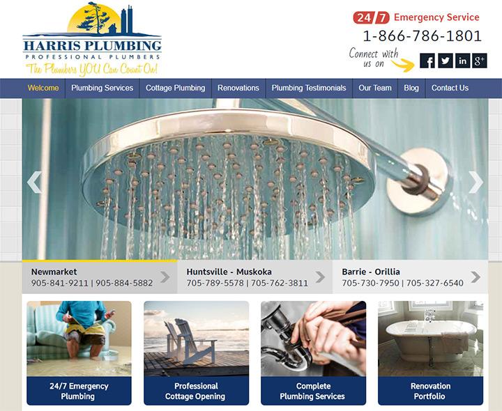 harris plumbing website