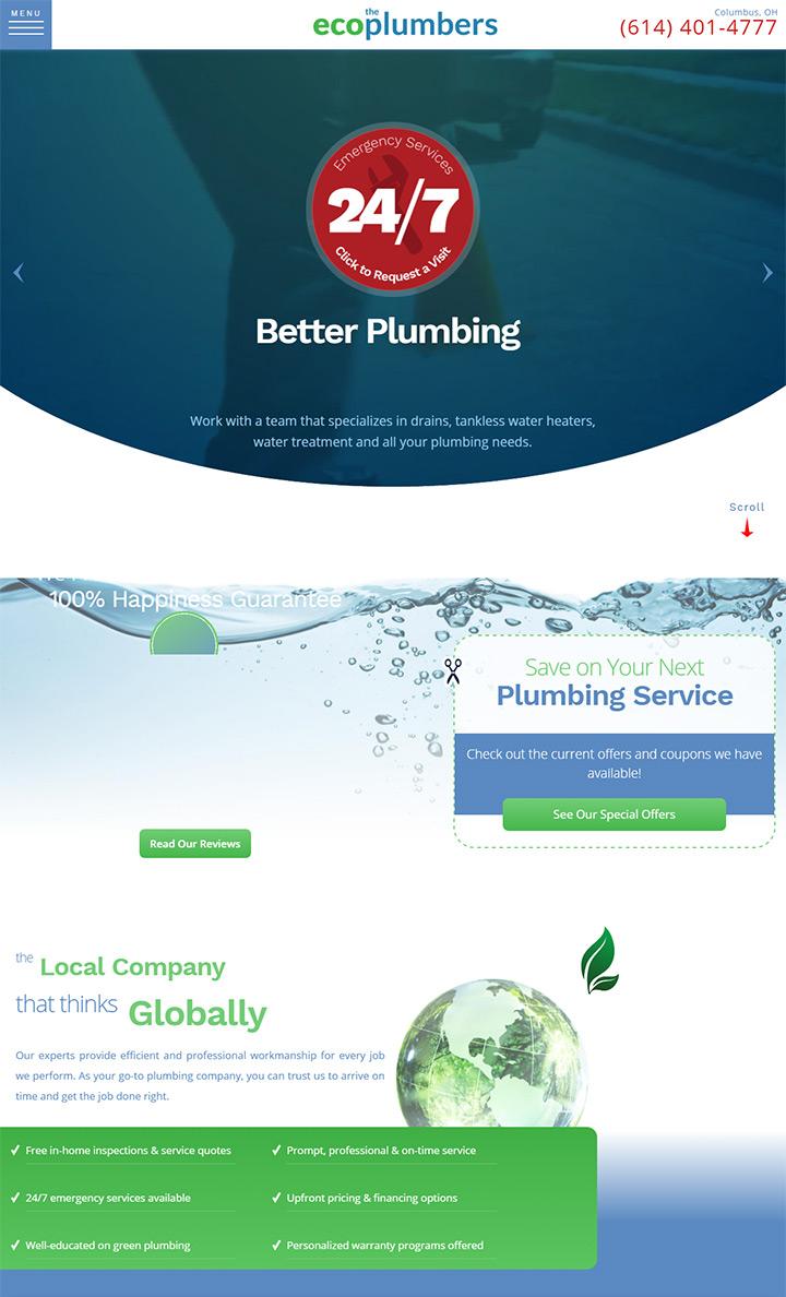 eco plumbers website