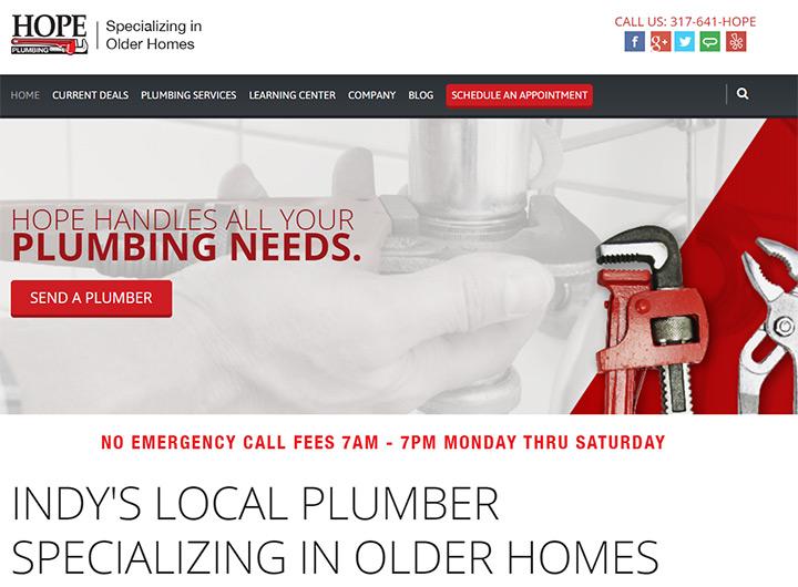 hope plumbing website