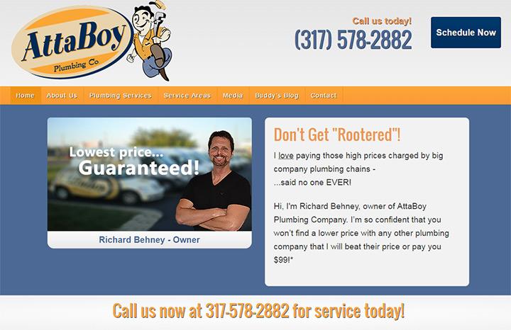 attaboy plumbing website