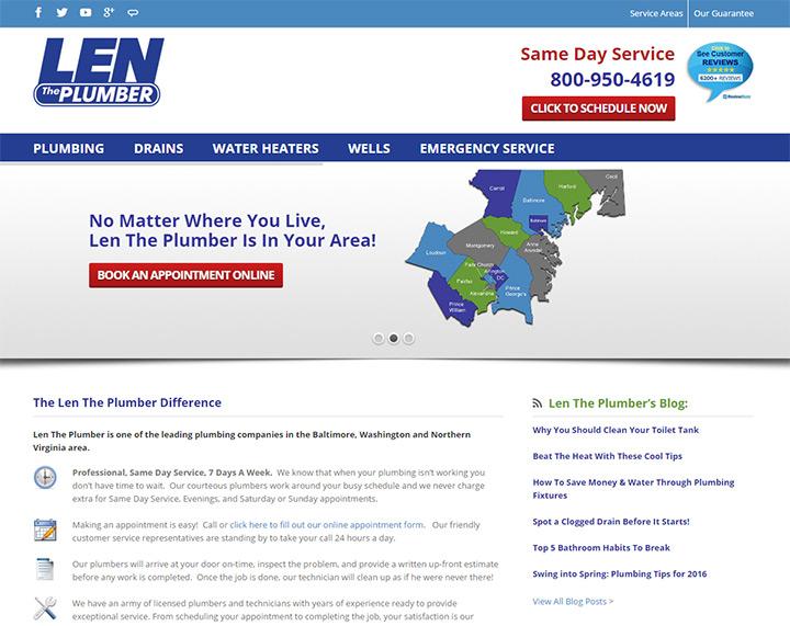 len the plumber website