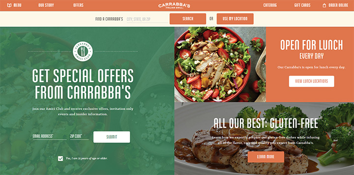 carrabba italian grill website