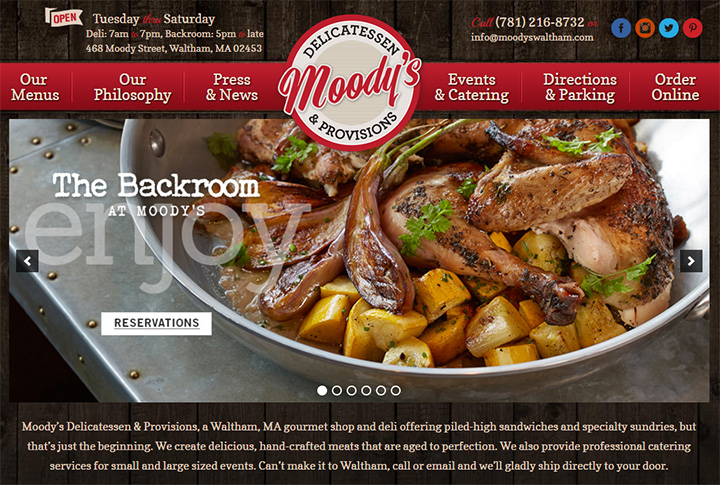 moodys delicatessen website