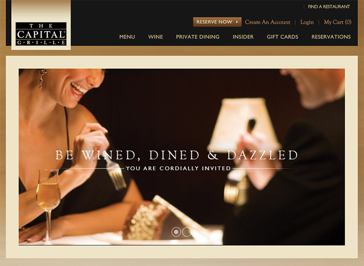 capital grille website