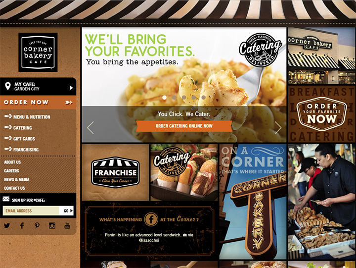 corner bakery website