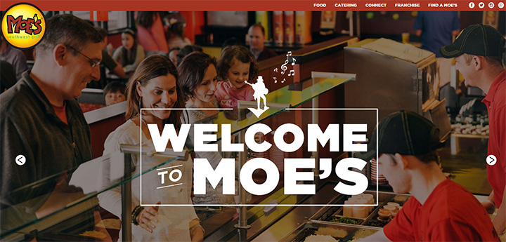 moes restaurant grill website