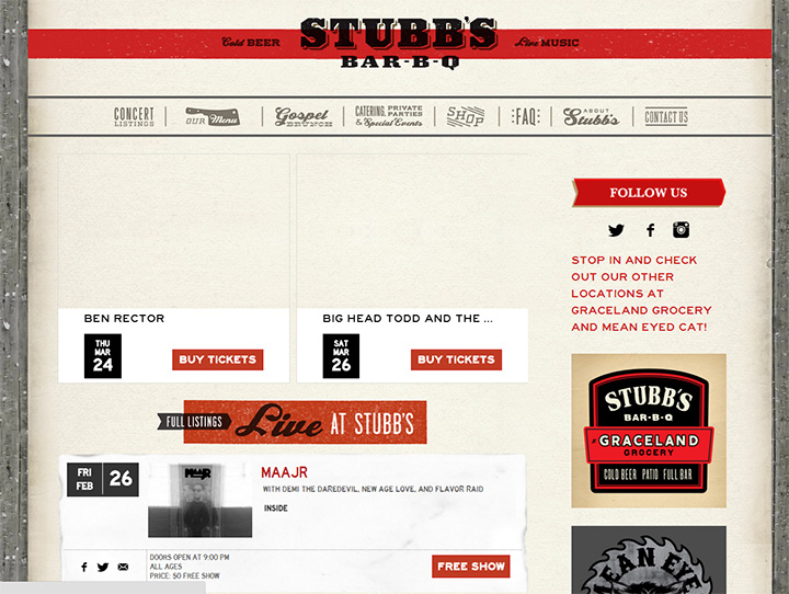 stubbs bbq website