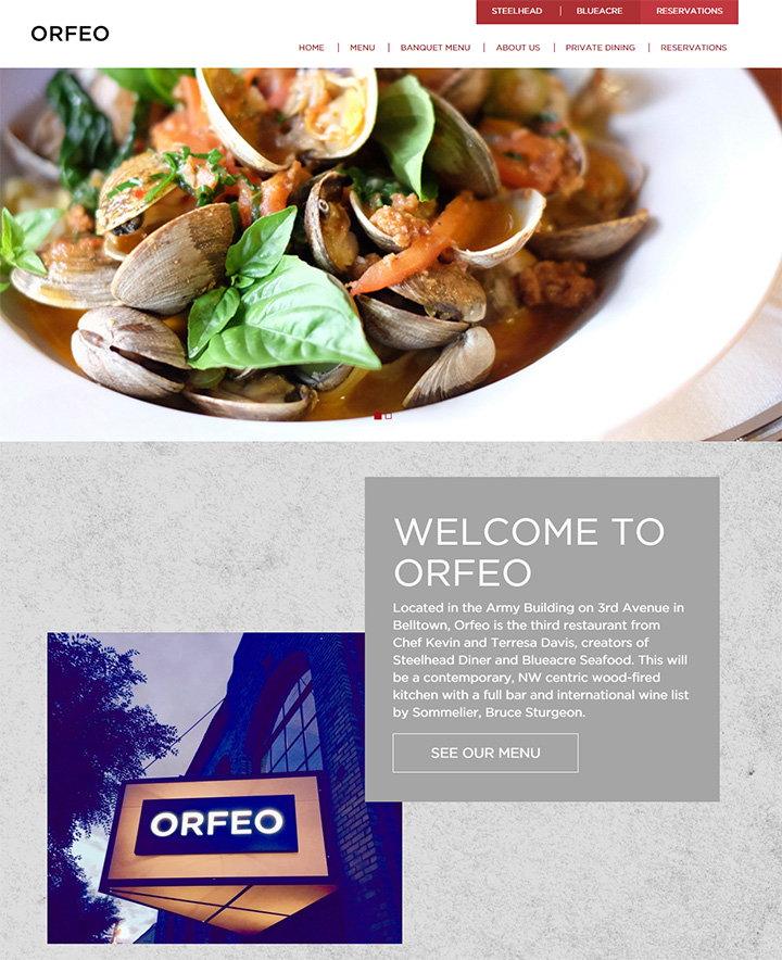 orfeo restaurant website