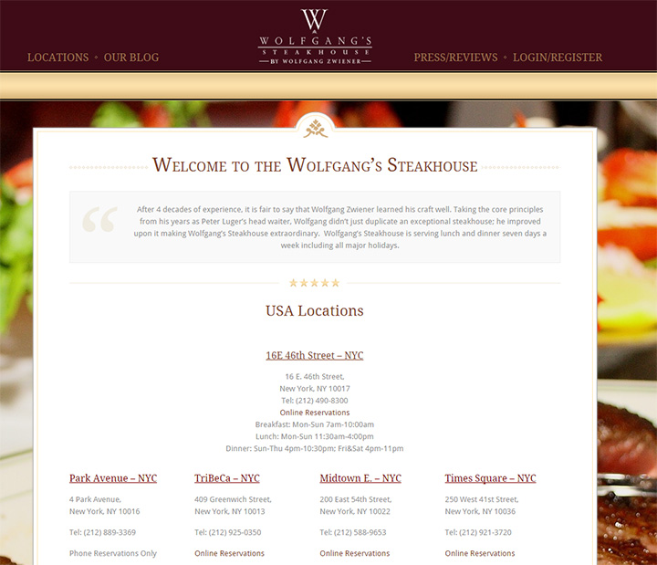wolfgang steakhouse website