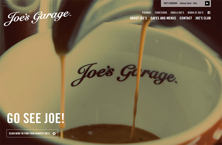 joes garage website