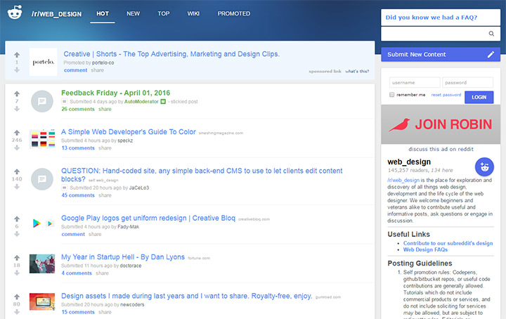reddit /r web design