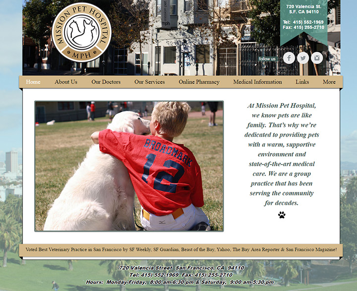 mission pet website