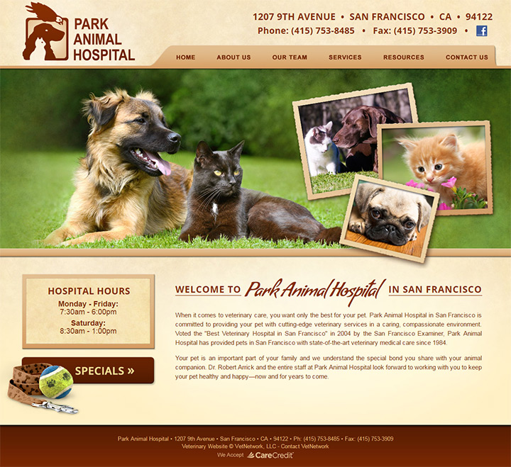 park animal hospital