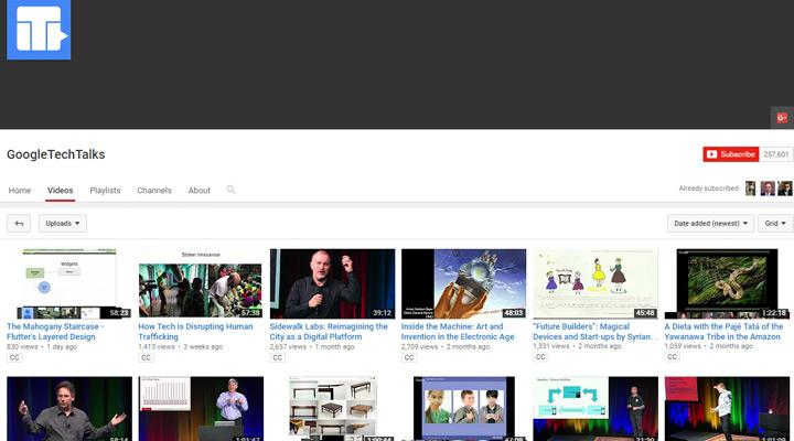 google techtalks youtube