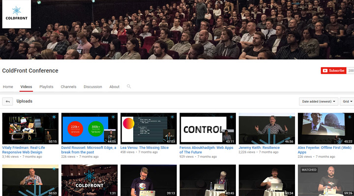 coldfront conference youtube