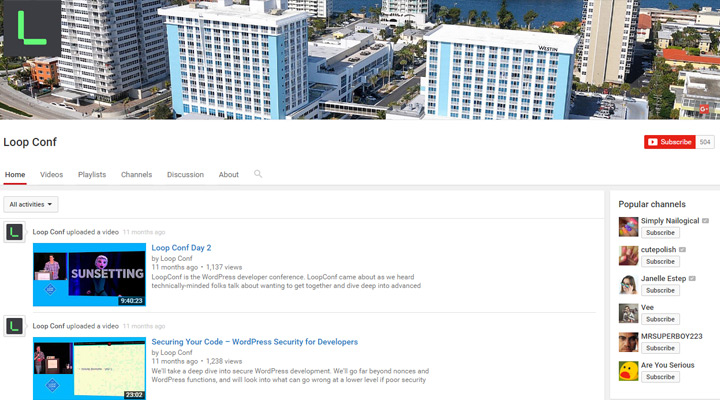 loopconf youtube videos channel