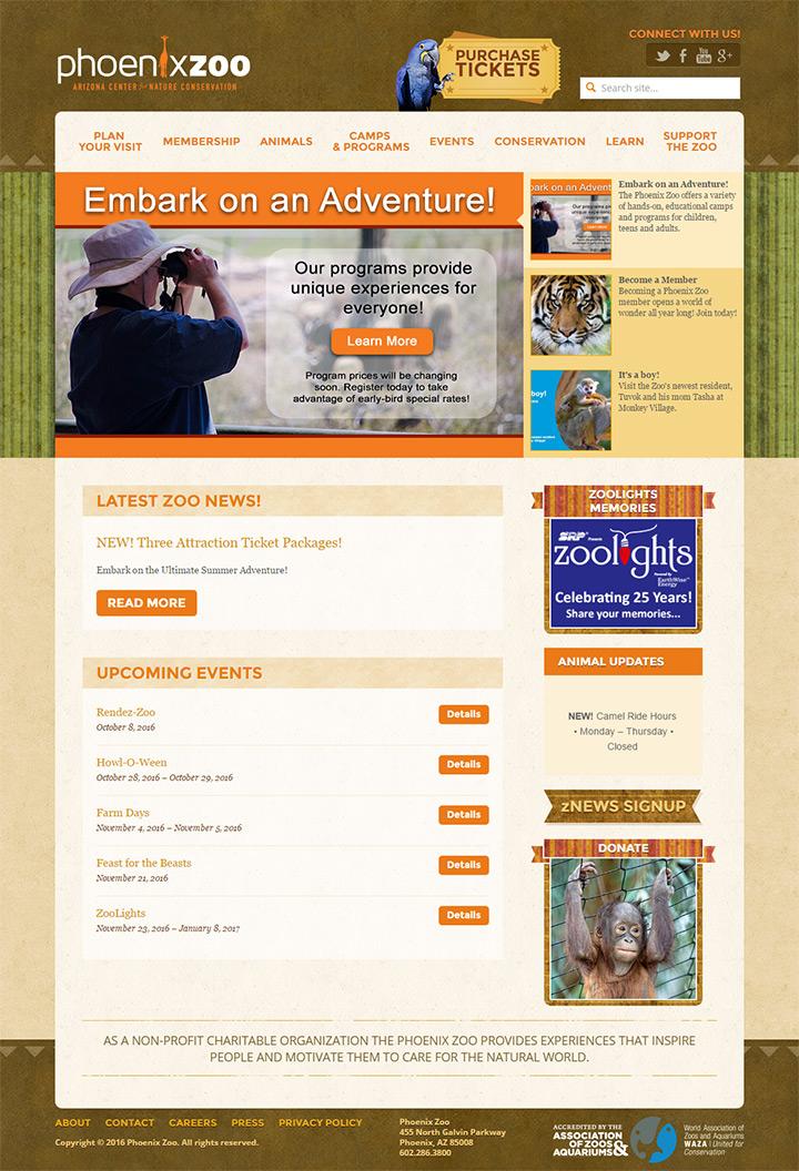 phoenix zoo website