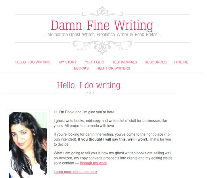 damn fine writing