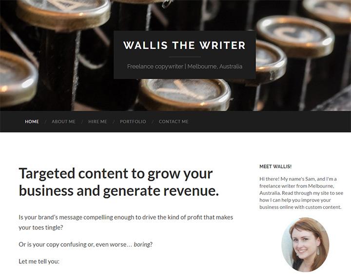 wallis writer
