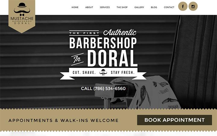 barbershop websites