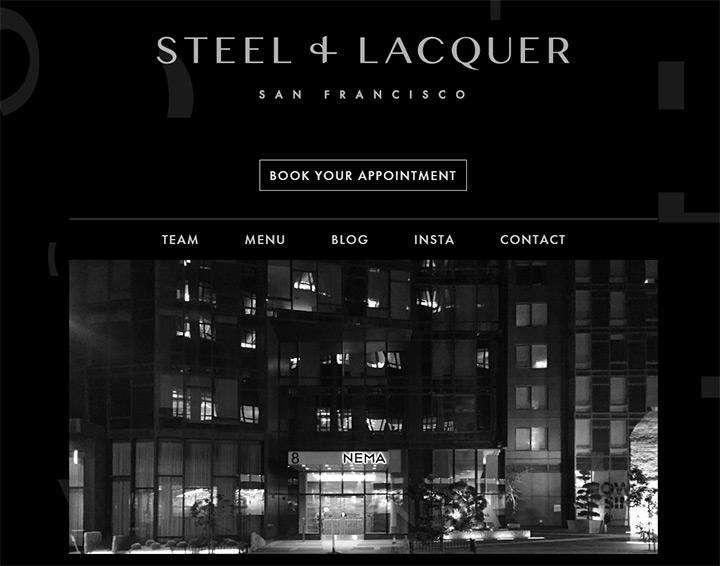 steel lacquer salon