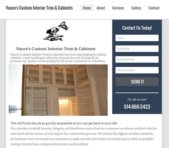vance interior cabinets
