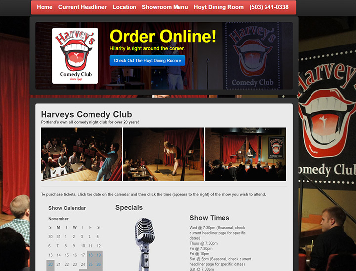 harveys comedy club