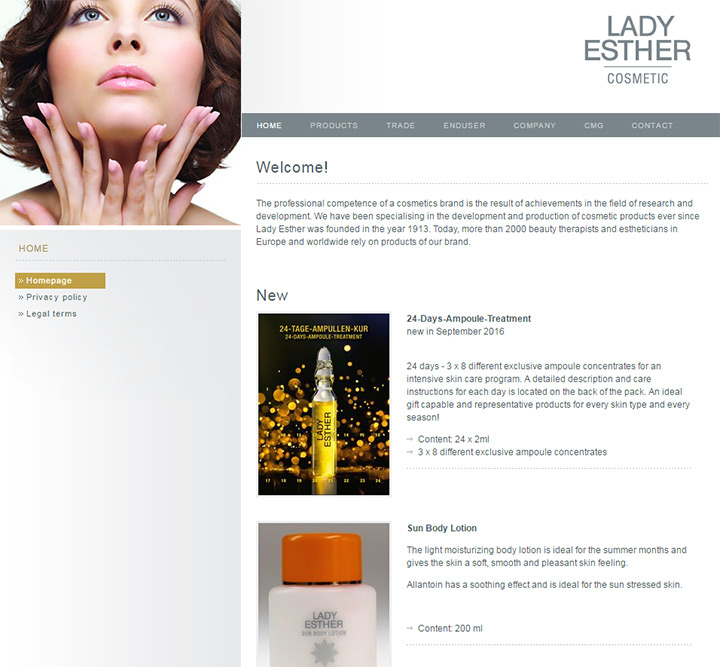 lady esther cosmetics