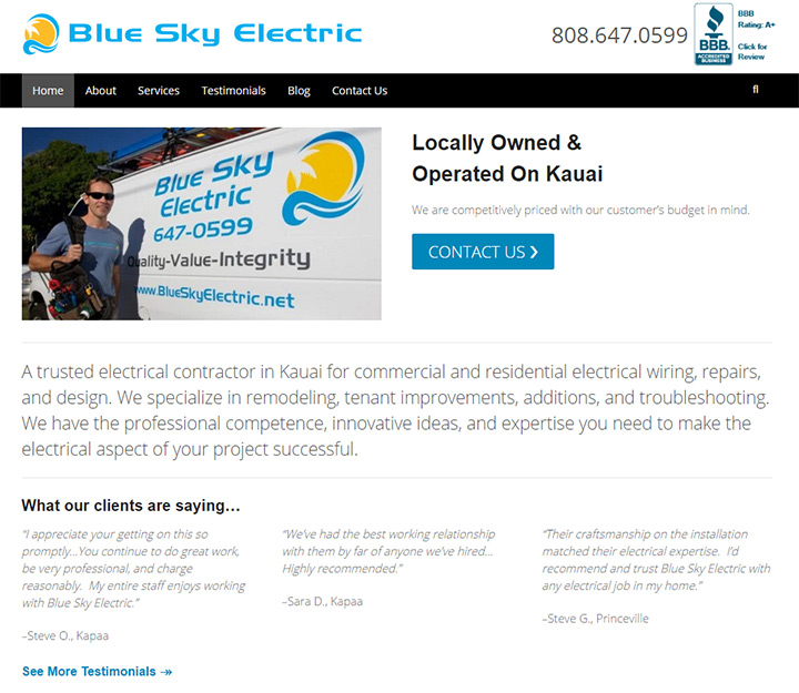 blue sky electric