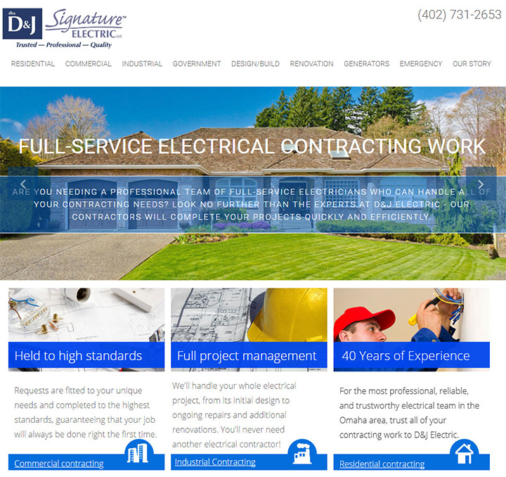 100+ Best Electrician Website Designs