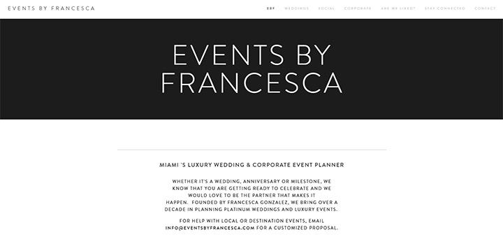 francesca events