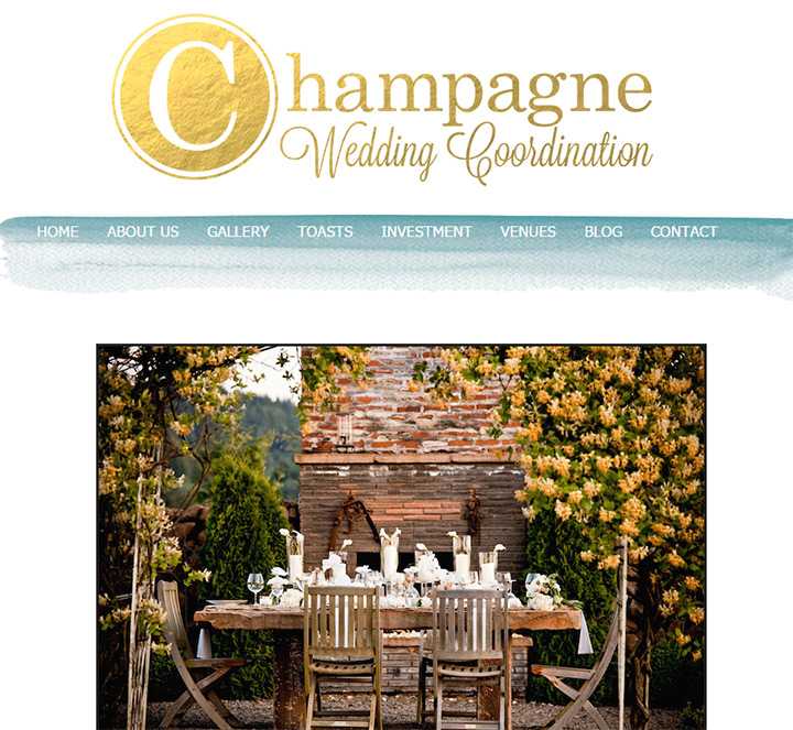 champagne wedding coordination