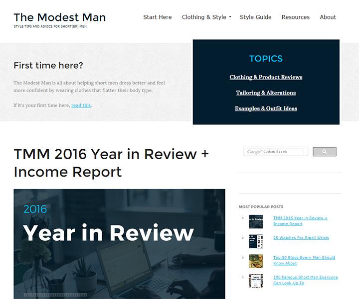 the modest man