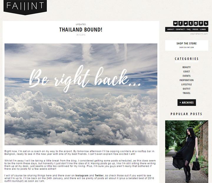faiiint blog