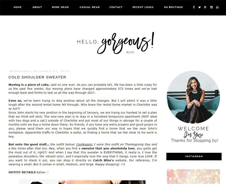 hello gorgeous blog