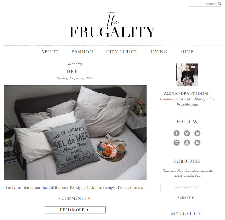 frugality blog