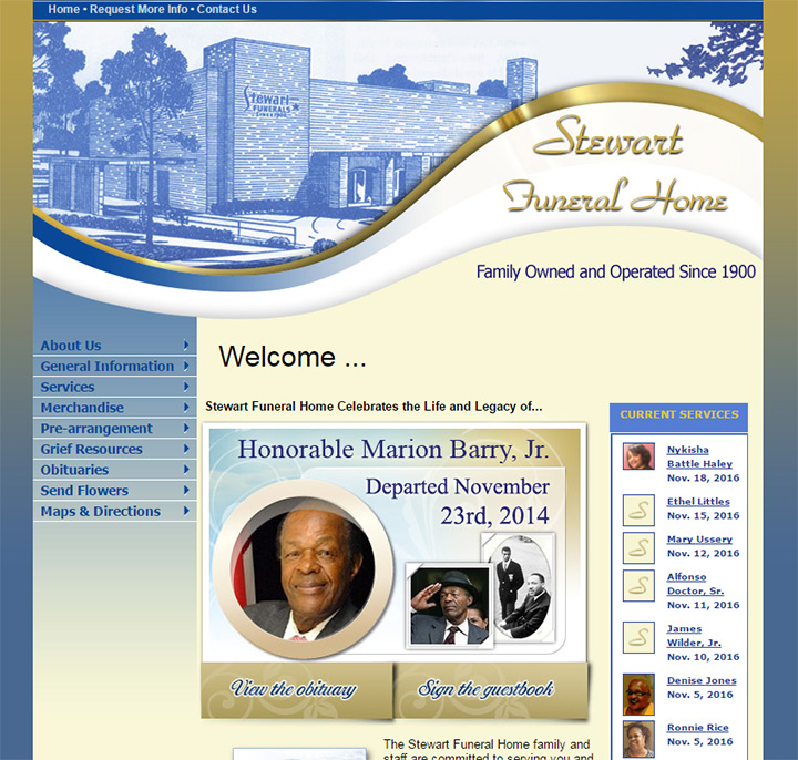 100+ Best Funeral Home Website Designs