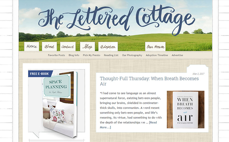 lettered cottage