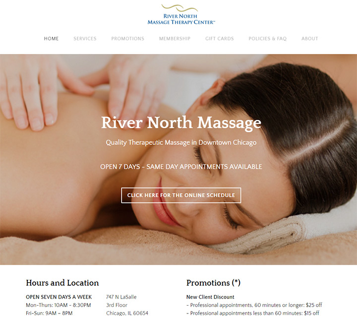 river north massage