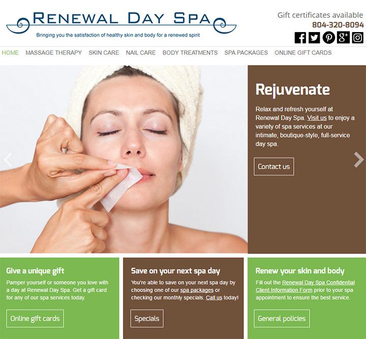 renewal day spa