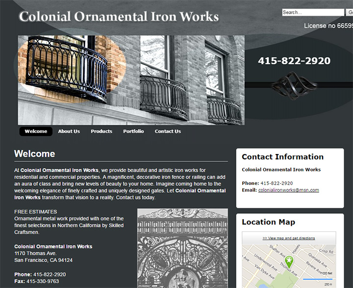 colonial ornamental works
